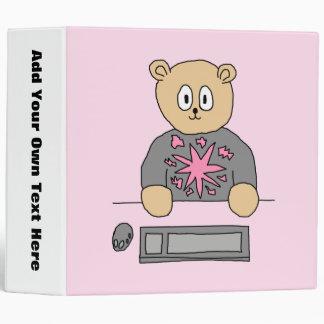 Video Game Player Bear. Binder