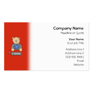 Video Game Player Bear. Business Card