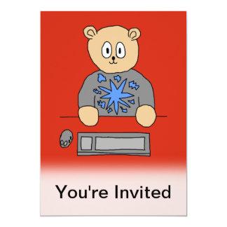 Video Game Player Bear. Card