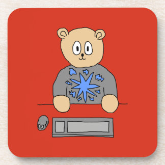Video Game Player Bear. Coasters