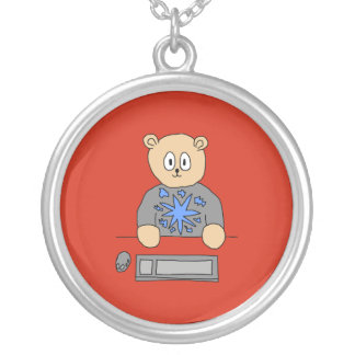 Video Game Player Bear Personalized Necklace