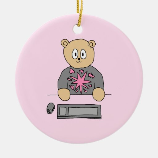 Video Game Player Bear. Ornament