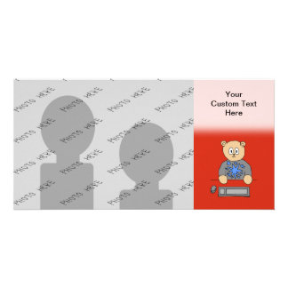 Video Game Player Bear. Photo Card