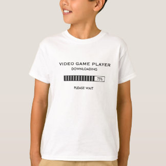 Video Game Player Downloading T-Shirt