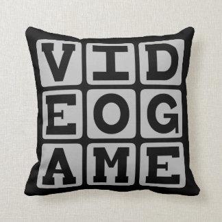 Video Game, Recreational Activity Throw Pillow
