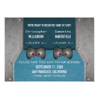 Video Game Save the Date Invite, Blue Card