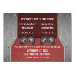 Video Game Save the Date Invite, Maroon 5x7 Paper Invitation Card