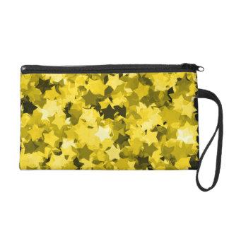 Video Game Sunny Yellow Kawaii Stars Background Wristlet Clutch