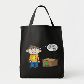 Video Game Thoughts - Grocery Tote Canvas Bags