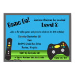 Video Game Truck Birthday Party 4.5x6.25 Paper Invitation Card