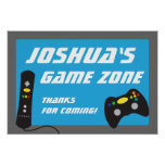 Video Game Truck Birthday Party Banner Poster at Zazzle