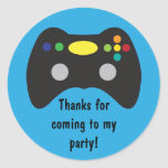 Video Game Truck Birthday Party Favor Classic Round Sticker
