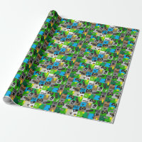 Video Game Truck Birthday Party Gamer Arcade Wrapping Paper