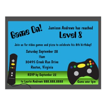 daisyprint Video Game Truck Birthday Party Invitations
