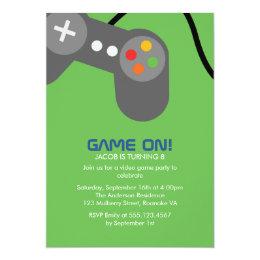 Video Gamer Birthday Party Card
