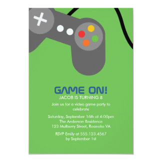 Video Gamer Birthday Party Card