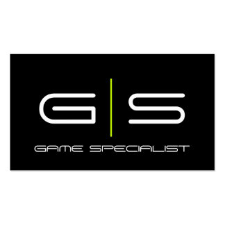 Video Gamer Game Specialist Business Card
