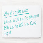video gamer life mouse pad