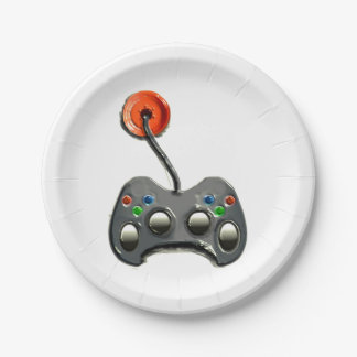 Video Gamer Party Paper Plate