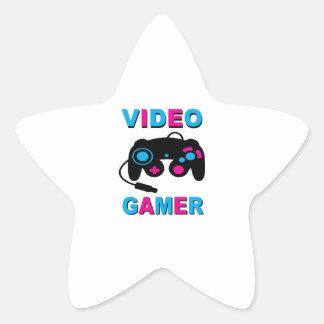 Video Gamer Star Sticker