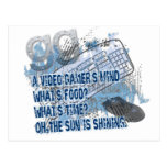 Video Gamers Mind - GG - Keyboard - Mouse Postcard
