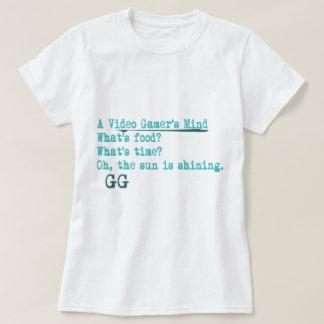 video gamers mind gg tee shirt
