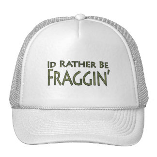 Video Games and Gaming - I'd Rather Be Fraggin' Trucker Hat