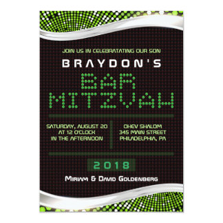 VIDEO GAMES Bar Bat Mitzvah Invitation