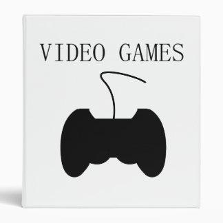 Video Games Vinyl Binders