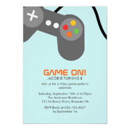 Video Games Birthday Party Card