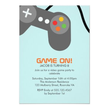 heartlocked Video Games Birthday Party Card