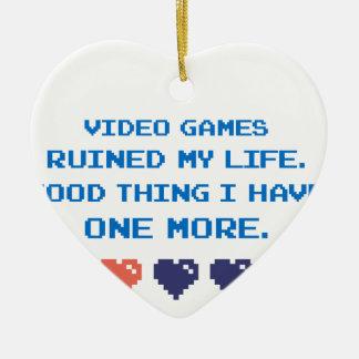 VIDEO GAMES CERAMIC ORNAMENT