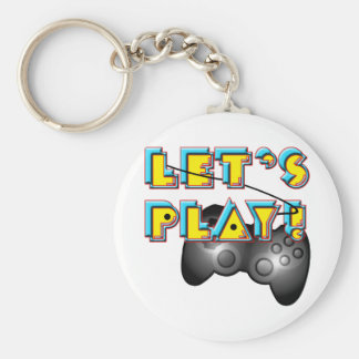 Video Games Day - Let's Play! Key Chain