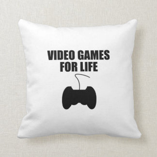 Video Games For Life Pillows