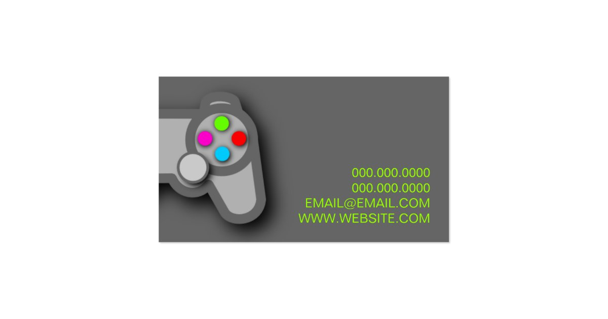 Video Games Gamer Specialist Business Card | Zazzle
