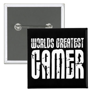 Video Games Gaming & Gamers Worlds Greatest Gamer 2 Inch Square Button