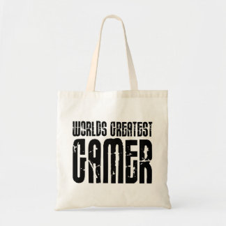Video Games Gaming & Gamers Worlds Greatest Gamer Budget Tote Bag