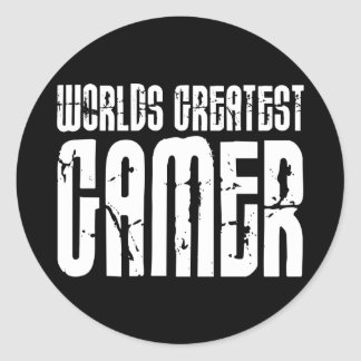 Video Games Gaming & Gamers Worlds Greatest Gamer Classic Round Sticker