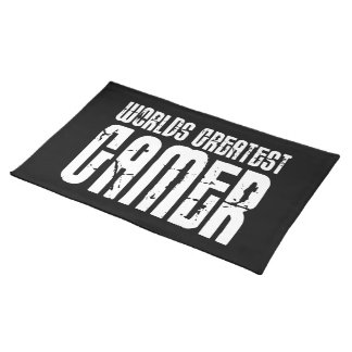 Video Games Gaming & Gamers Worlds Greatest Gamer Cloth Placemat