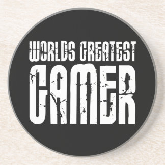 Video Games Gaming & Gamers Worlds Greatest Gamer Drink Coaster