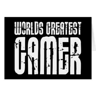 Video Games Gaming & Gamers Worlds Greatest Gamer Greeting Card