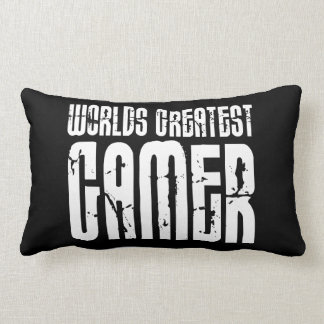Video Games Gaming & Gamers Worlds Greatest Gamer Lumbar Pillow