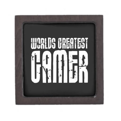 Video Games Gaming & Gamers Worlds Greatest Gamer Premium Jewelry Boxes