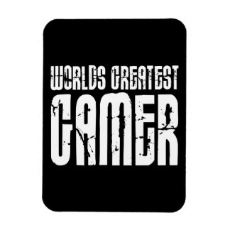 Video Games Gaming & Gamers Worlds Greatest Gamer Vinyl Magnets