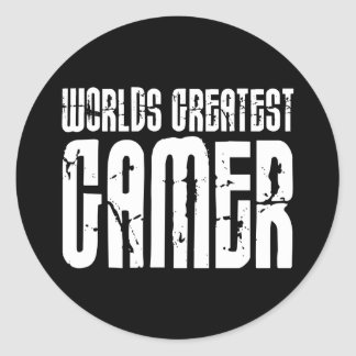 Video Games Gaming & Gamers Worlds Greatest Gamer Sticker