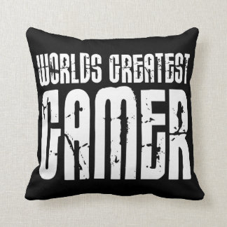 Video Games Gaming & Gamers Worlds Greatest Gamer Throw Pillow