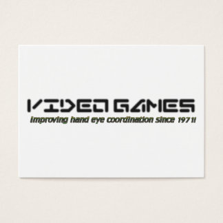 Video Games: Improving Hand Eye Coordination Business Card