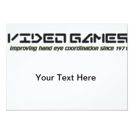 Video Games: Improving Hand Eye Coordination Custom Invites