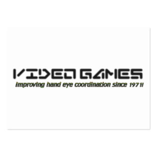 Video Games: Improving Hand Eye Coordination Large Business Card