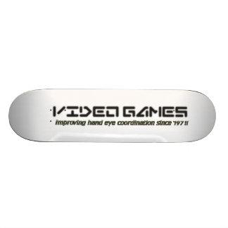 Video Games: Improving Hand Eye Coordination Skateboard Deck